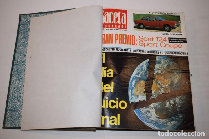 Coleccionismo de Revista Gaceta Ilustrada: TOMO ENCUADERNADO DE 14 REVISTAS * GACETA ILUSTRADA * AÑO 1971 - COMPLETAS Y EN BUEN ESTADO - Foto 6 - 226832795