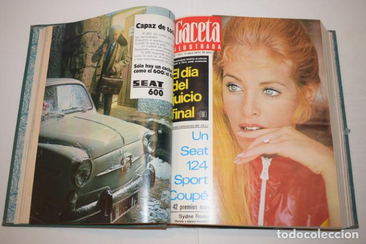 Coleccionismo de Revista Gaceta Ilustrada: TOMO ENCUADERNADO DE 14 REVISTAS * GACETA ILUSTRADA * AÑO 1971 - COMPLETAS Y EN BUEN ESTADO - Foto 7 - 226832795