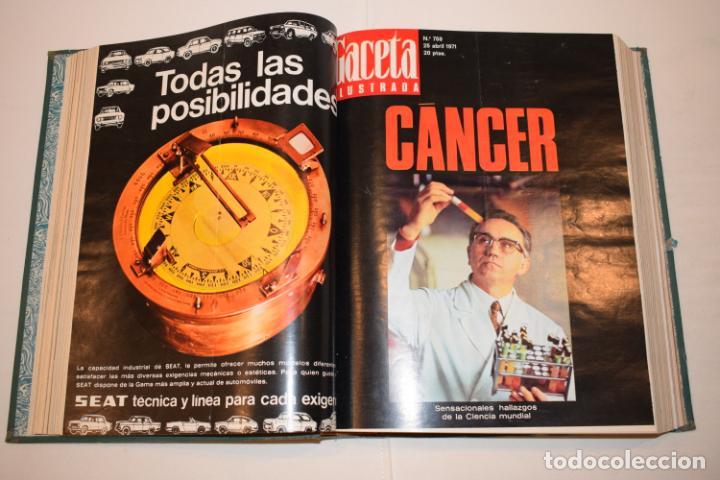Coleccionismo de Revista Gaceta Ilustrada: TOMO ENCUADERNADO DE 14 REVISTAS * GACETA ILUSTRADA * AÑO 1971 - COMPLETAS Y EN BUEN ESTADO - Foto 9 - 226832795