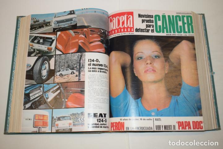 Coleccionismo de Revista Gaceta Ilustrada: TOMO ENCUADERNADO DE 14 REVISTAS * GACETA ILUSTRADA * AÑO 1971 - COMPLETAS Y EN BUEN ESTADO - Foto 11 - 226832795