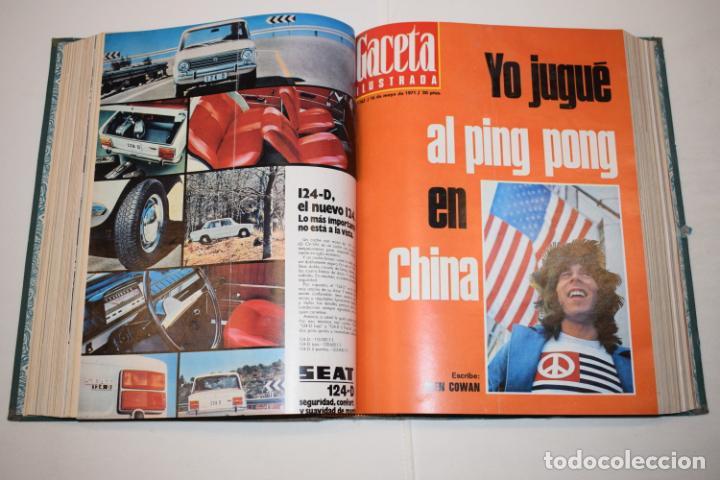 Coleccionismo de Revista Gaceta Ilustrada: TOMO ENCUADERNADO DE 14 REVISTAS * GACETA ILUSTRADA * AÑO 1971 - COMPLETAS Y EN BUEN ESTADO - Foto 12 - 226832795