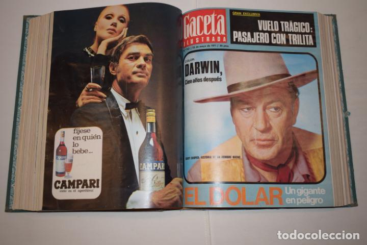 Coleccionismo de Revista Gaceta Ilustrada: TOMO ENCUADERNADO DE 14 REVISTAS * GACETA ILUSTRADA * AÑO 1971 - COMPLETAS Y EN BUEN ESTADO - Foto 13 - 226832795