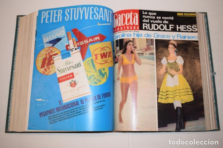 Coleccionismo de Revista Gaceta Ilustrada: TOMO ENCUADERNADO DE 14 REVISTAS * GACETA ILUSTRADA * AÑO 1971 - COMPLETAS Y EN BUEN ESTADO - Foto 14 - 226832795