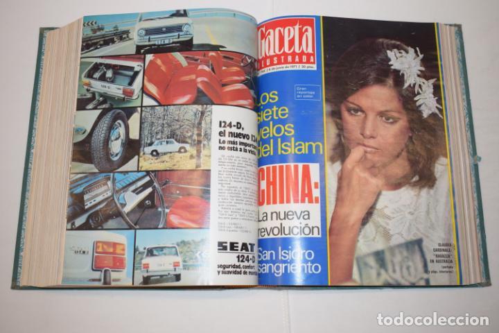 Coleccionismo de Revista Gaceta Ilustrada: TOMO ENCUADERNADO DE 14 REVISTAS * GACETA ILUSTRADA * AÑO 1971 - COMPLETAS Y EN BUEN ESTADO - Foto 15 - 226832795