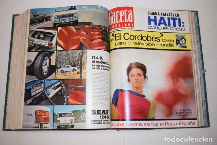 Coleccionismo de Revista Gaceta Ilustrada: TOMO ENCUADERNADO DE 14 REVISTAS * GACETA ILUSTRADA * AÑO 1971 - COMPLETAS Y EN BUEN ESTADO - Foto 16 - 226832795