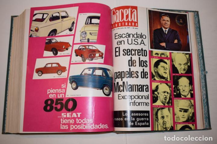 Coleccionismo de Revista Gaceta Ilustrada: TOMO ENCUADERNADO DE 14 REVISTAS * GACETA ILUSTRADA * AÑO 1971 - COMPLETAS Y EN BUEN ESTADO - Foto 18 - 226832795