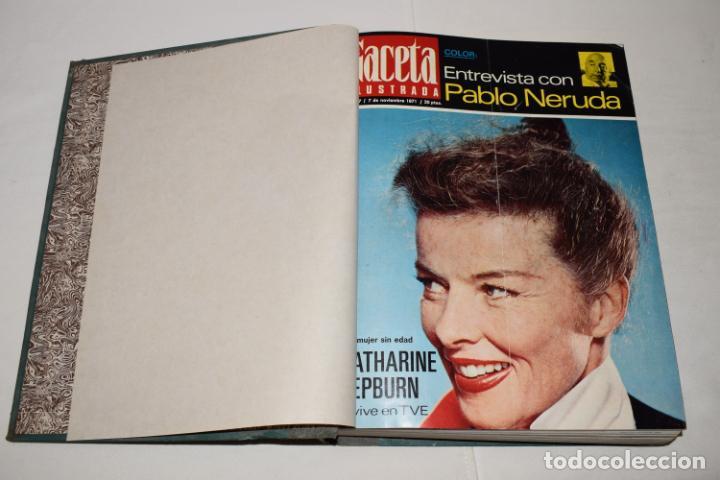 Coleccionismo de Revista Gaceta Ilustrada: TOMO ENCUADERNADO DE 12 REVISTAS * GACETA ILUSTRADA * AÑO 1971 y 1972 - COMPLETAS Y EN BUEN ESTADO - Foto 5 - 226833340