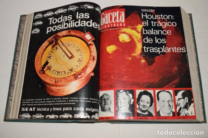 Coleccionismo de Revista Gaceta Ilustrada: TOMO ENCUADERNADO DE 12 REVISTAS * GACETA ILUSTRADA * AÑO 1971 y 1972 - COMPLETAS Y EN BUEN ESTADO - Foto 7 - 226833340