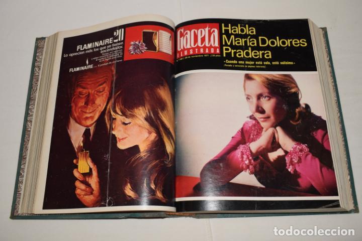 Coleccionismo de Revista Gaceta Ilustrada: TOMO ENCUADERNADO DE 12 REVISTAS * GACETA ILUSTRADA * AÑO 1971 y 1972 - COMPLETAS Y EN BUEN ESTADO - Foto 8 - 226833340