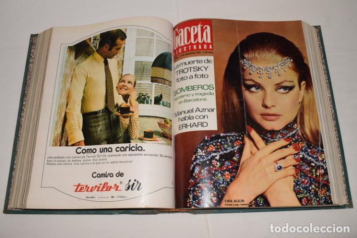 Coleccionismo de Revista Gaceta Ilustrada: TOMO ENCUADERNADO DE 12 REVISTAS * GACETA ILUSTRADA * AÑO 1971 y 1972 - COMPLETAS Y EN BUEN ESTADO - Foto 10 - 226833340