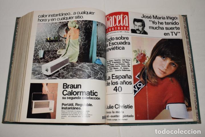 Coleccionismo de Revista Gaceta Ilustrada: TOMO ENCUADERNADO DE 12 REVISTAS * GACETA ILUSTRADA * AÑO 1971 y 1972 - COMPLETAS Y EN BUEN ESTADO - Foto 15 - 226833340