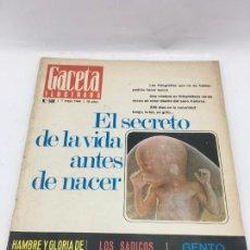 Coleccionismo de Revista Gaceta Ilustrada: GACETA ILUSTRADA - Nº 500 - MAYO 1966 - LOS SADICOS DE INGLATERRA - GENTO EL EXTREMO MAS RAPIDO. Lote 227279815