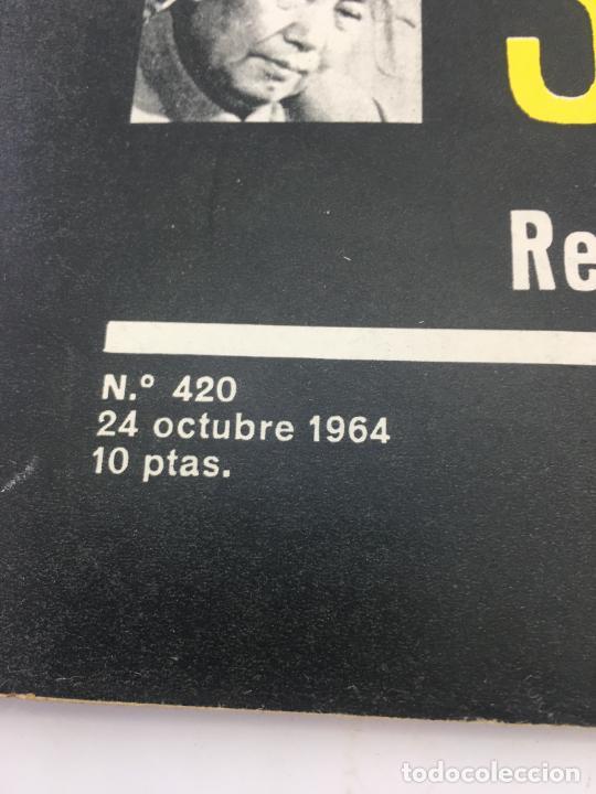 Coleccionismo de Revista Gaceta Ilustrada: GACETA ILUSTRADA - Nº 420 - OCTUBRE DE 1964 - EL DIA MAS CORTO - GUERRA FRIA - Foto 2 - 227469015