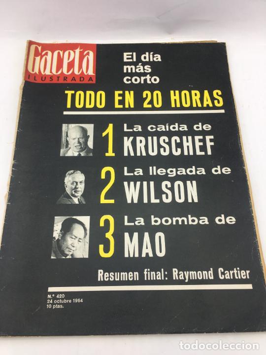 GACETA ILUSTRADA - Nº 420 - OCTUBRE DE 1964 - EL DIA MAS CORTO - GUERRA FRIA (Coleccionismo - Revistas y Periódicos Modernos (a partir de 1.940) - Revista Gaceta Ilustrada)