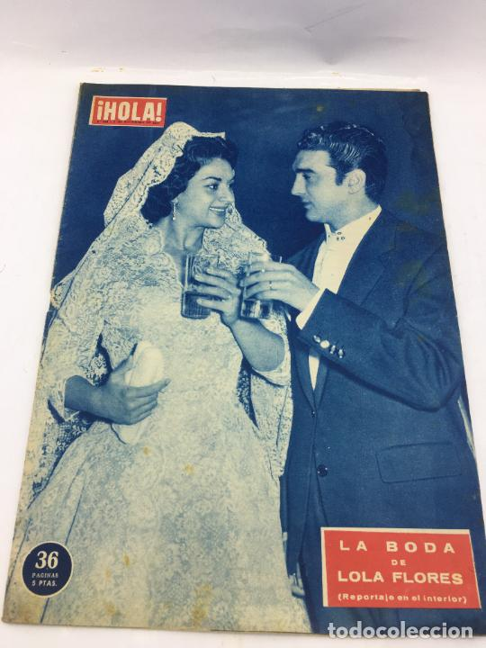 HOLA - Nº 688 - NOVIEMBRE 1957 .- BODA DE LOLA FLORES (Coleccionismo - Revistas y Periódicos Modernos (a partir de 1.940) - Revista Gaceta Ilustrada)