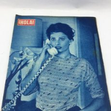 Coleccionismo de Revista Gaceta Ilustrada: HOLA - N° 724 - 12 DE JUNIO1958 - EN PORTADA SOFIA LOREN. Lote 227476285