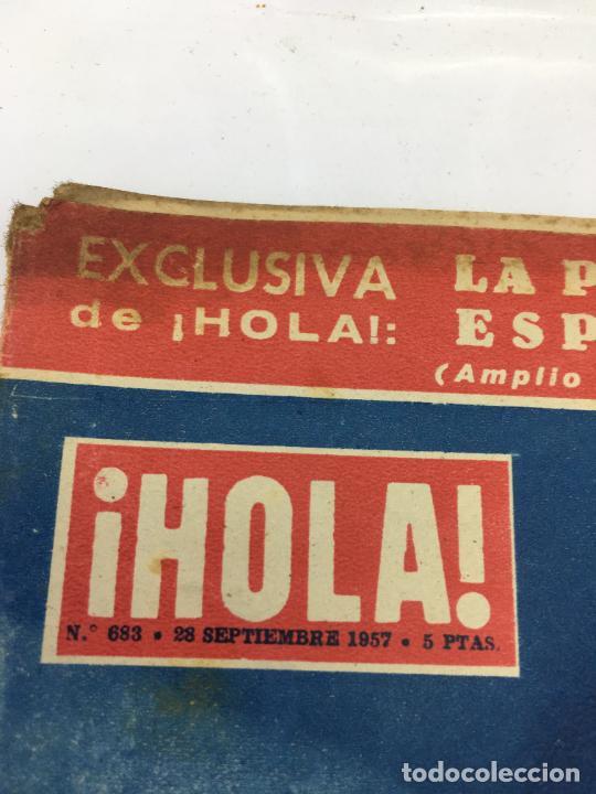 Coleccionismo de Revista Gaceta Ilustrada: ¡HOLA! - NUM 683 - 26 SEPTIEMBRE 1957 - MATRIMONIO REY FEISAL - Foto 2 - 227477050