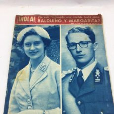 Coleccionismo de Revista Gaceta Ilustrada: HOLA - Nº 613 - 26 MAYO 1956 - BALDUINO Y MARGARITA - SILVANA PAMPANINI. Lote 227477835