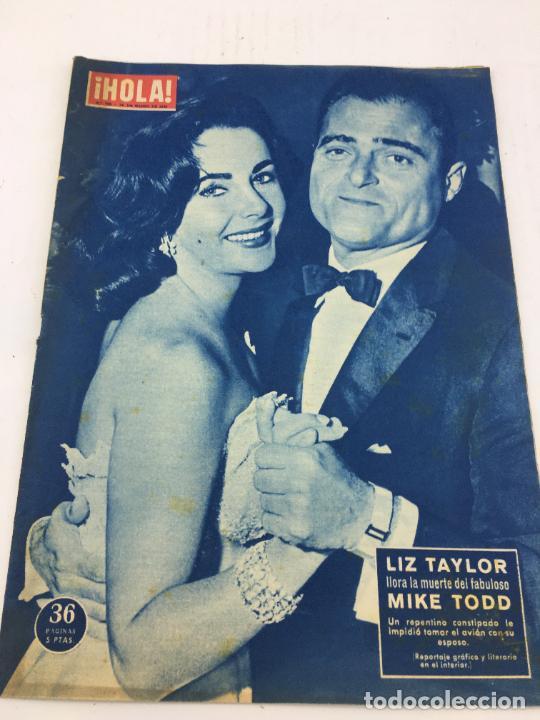 HOLA - Nº 709 - 29 MARZO 1958 - LIZ TAYLOR - SORAYA - MARIA CALLAS (Coleccionismo - Revistas y Periódicos Modernos (a partir de 1.940) - Revista Gaceta Ilustrada)