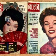 Coleccionismo de Revista Gaceta Ilustrada: LOTE 2 REVISTAS GACETA ILUSTRADA 1962 NUMERO 289 309 KENNEDY DAWN ADDAMS LOLA FLORES PORTADA. Lote 238147835