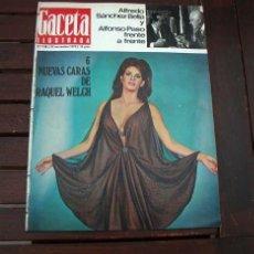 Coleccionismo de Revista Gaceta Ilustrada: GACETA ILUSTRADA 1970 / RAQUEL WELCH, BAHIA DE LA CORUÑA, HISTORIA DE LOS REYES DE EGIPTO. Lote 243146275