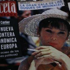 Coleccionismo de Revista Gaceta Ilustrada: GACETA ILUSTRADA Nº 342 AUDREY HEPBURN GINA LOLLOBRIGIDA MAURICE JARRE 1963. Lote 245920920
