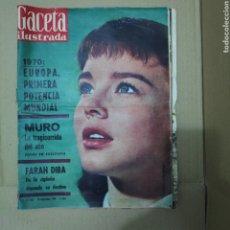 Collectionnisme de Magazine Gaceta Ilustrada: GACETA ILUSTRADA 205 1960 EUROPA 1970 REAL MADRID TRAGI CORRIDA MURO MOWGLI FARAH DIBA TONY PERKINS. Lote 249572800