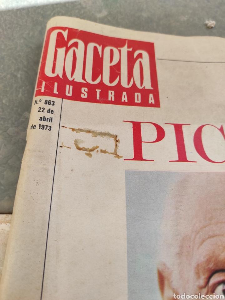 Coleccionismo de Revista Gaceta Ilustrada: Revista Gaceta Ilustrada N°863 - año 1973 - Especial La Vida y La Obra de Pablo Picasso - Foto 3 - 253014250