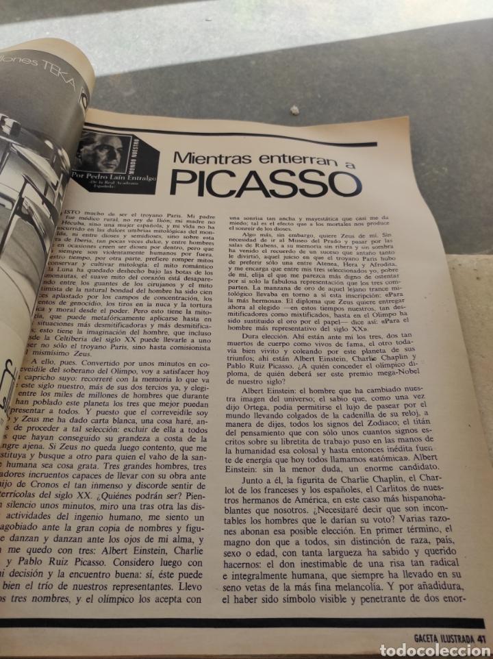 Coleccionismo de Revista Gaceta Ilustrada: Revista Gaceta Ilustrada N°863 - año 1973 - Especial La Vida y La Obra de Pablo Picasso - Foto 12 - 253014250