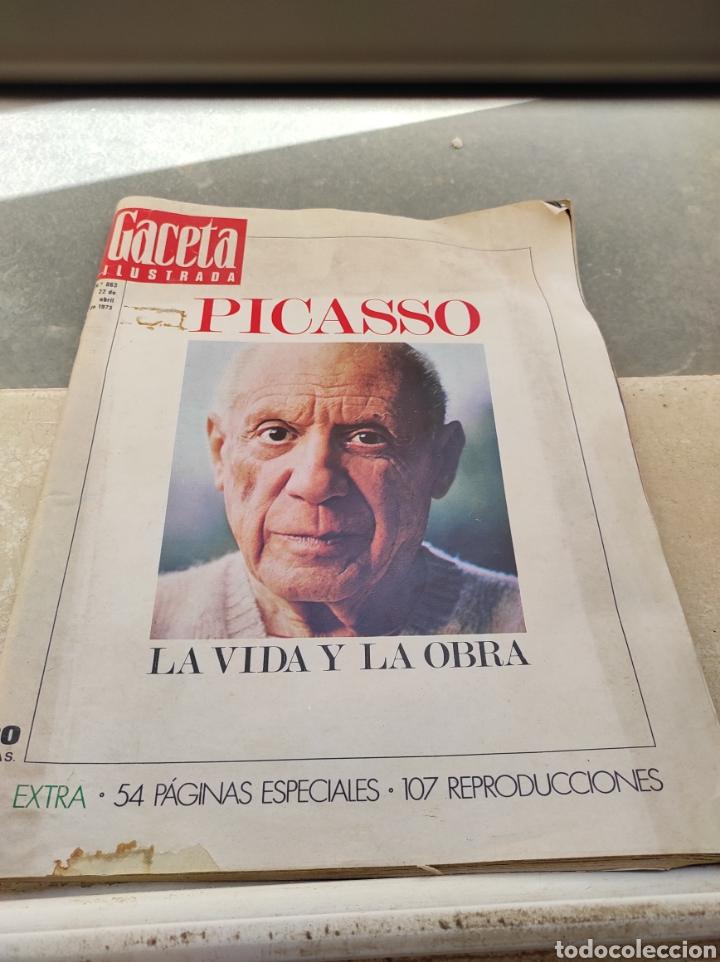 Coleccionismo de Revista Gaceta Ilustrada: Revista Gaceta Ilustrada N°863 - año 1973 - Especial La Vida y La Obra de Pablo Picasso - Foto 20 - 253014250