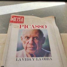 Coleccionismo de Revista Gaceta Ilustrada: REVISTA GACETA ILUSTRADA N°863 - AÑO 1973 - ESPECIAL LA VIDA Y LA OBRA DE PABLO PICASSO. Lote 253014250