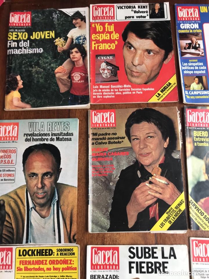 Coleccionismo de Revista Gaceta Ilustrada: Gaceta Ilustrada 1976 ,lote 9revistas - Foto 2 - 256067335