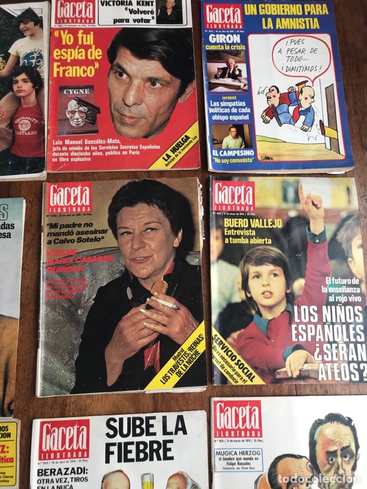 Coleccionismo de Revista Gaceta Ilustrada: Gaceta Ilustrada 1976 ,lote 9revistas - Foto 3 - 256067335