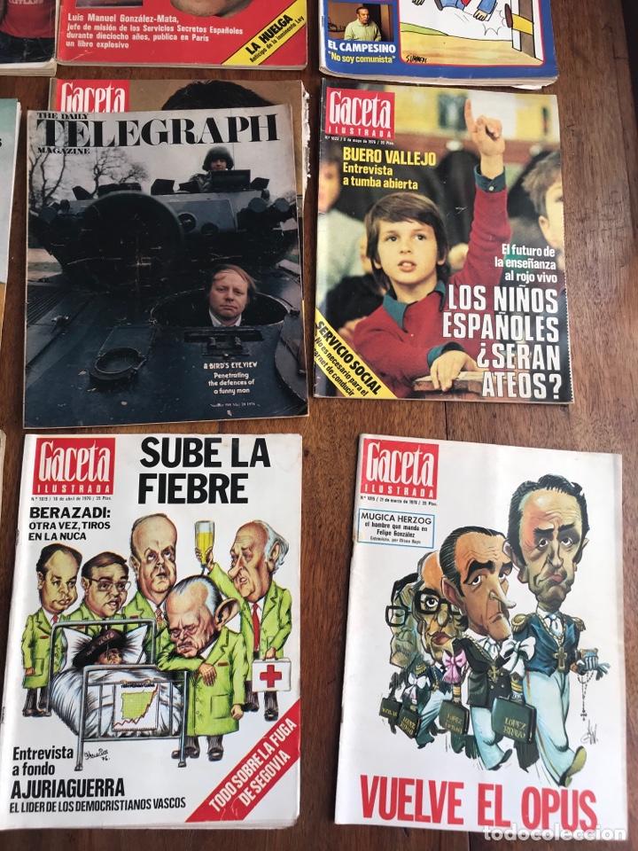 Coleccionismo de Revista Gaceta Ilustrada: Gaceta Ilustrada 1976 ,lote 9revistas - Foto 6 - 256067335