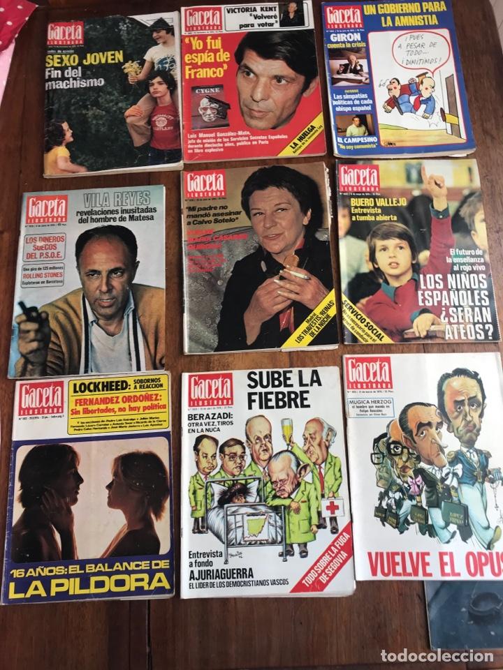 GACETA ILUSTRADA 1976 ,LOTE 9REVISTAS (Coleccionismo - Revistas y Periódicos Modernos (a partir de 1.940) - Revista Gaceta Ilustrada)