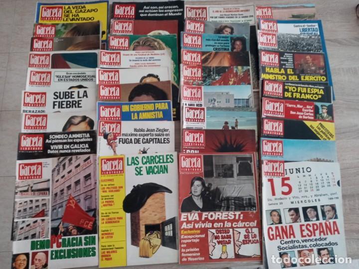 GACETA ILUSTRADA LOTE DE 36.AÑOS 1975-1977. (Coleccionismo - Revistas y Periódicos Modernos (a partir de 1.940) - Revista Gaceta Ilustrada)
