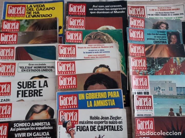 Coleccionismo de Revista Gaceta Ilustrada: GACETA ILUSTRADA LOTE DE 36.AÑOS 1975-1977. - Foto 2 - 257462665