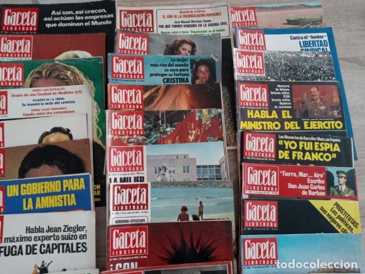 Coleccionismo de Revista Gaceta Ilustrada: GACETA ILUSTRADA LOTE DE 36.AÑOS 1975-1977. - Foto 3 - 257462665