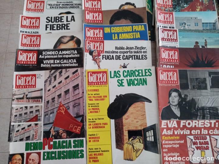 Coleccionismo de Revista Gaceta Ilustrada: GACETA ILUSTRADA LOTE DE 36.AÑOS 1975-1977. - Foto 4 - 257462665
