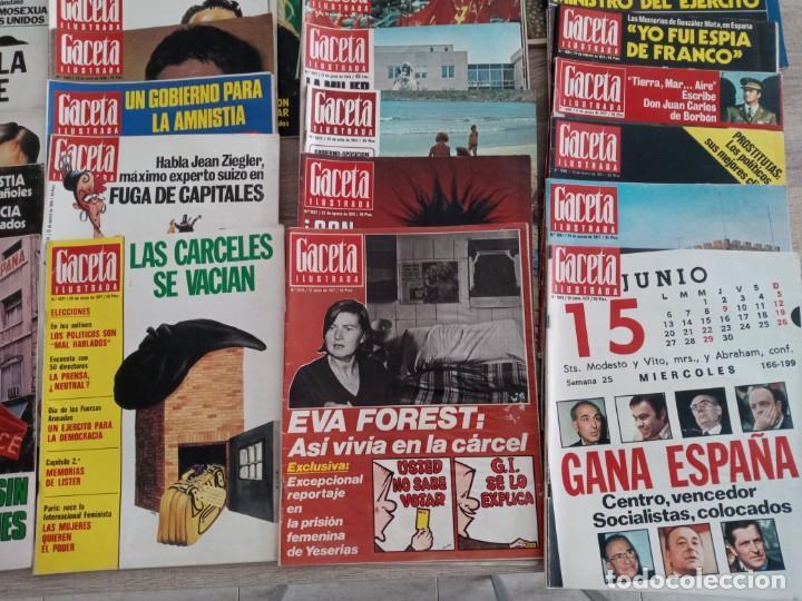 Coleccionismo de Revista Gaceta Ilustrada: GACETA ILUSTRADA LOTE DE 36.AÑOS 1975-1977. - Foto 5 - 257462665