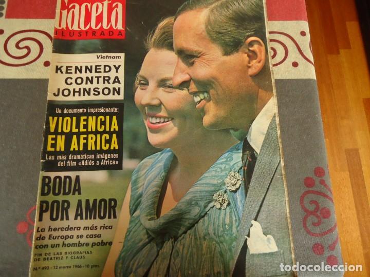 GACETA ILUSTRADA Nº 492 BODA POR AMOR (Coleccionismo - Revistas y Periódicos Modernos (a partir de 1.940) - Revista Gaceta Ilustrada)