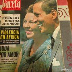 Coleccionismo de Revista Gaceta Ilustrada: GACETA ILUSTRADA Nº 492 BODA POR AMOR. Lote 264494359