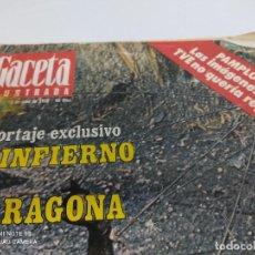 Coleccionismo de Revista Gaceta Ilustrada: LA GACETA ILUSTRADA REPORTAJE EXCLUSIVO EL INFIERNO DE TARRAGONA. Lote 264723409