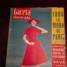 Coleccionismo de Revista Gaceta Ilustrada: GACETA ILUSTRADA LA MODA DE PARÍS 30 AGOSTO 1958 NÚM 99. Lote 272705308