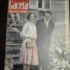 Coleccionismo de Revista Gaceta Ilustrada: GACETA ILUSTRADA FABIOLA Y BALDUINO BÉLGICA 1 OCTUBRE 1960 NÚM 208. Lote 272707018