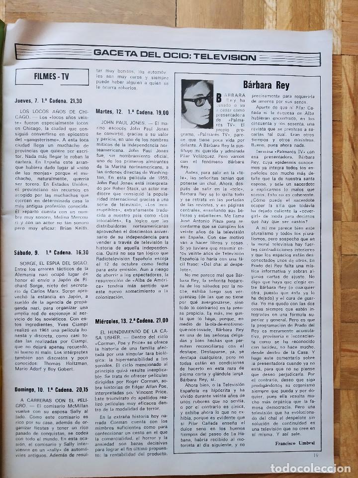 Coleccionismo de Revista Gaceta Ilustrada: REVISTA GACETA ILUSTRADA 1044 LOS ATENTADOS CONTRA FRANCO.ROCIO JURADO LOS BEATLES ROBERT REDFORD - Foto 2 - 275787043