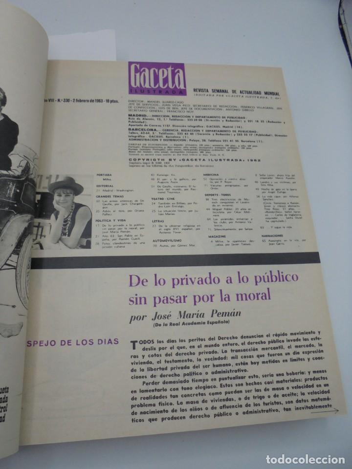 Coleccionismo de Revista Gaceta Ilustrada: GACETA ILUSTRADA. 10 REVISTAS ENCUADERNADAS. DESDE FEBRERO HASTA ABRIL. Nº 330 HASTA EL Nº 339. VER - Foto 3 - 276992063