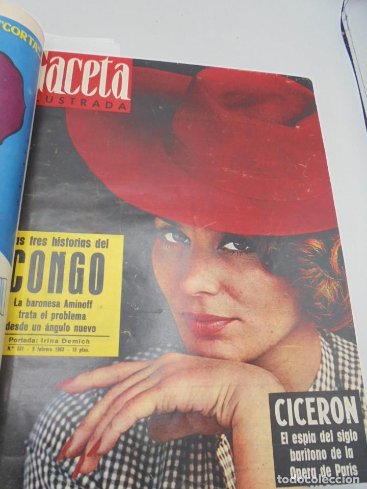 Coleccionismo de Revista Gaceta Ilustrada: GACETA ILUSTRADA. 10 REVISTAS ENCUADERNADAS. DESDE FEBRERO HASTA ABRIL. Nº 330 HASTA EL Nº 339. VER - Foto 4 - 276992063