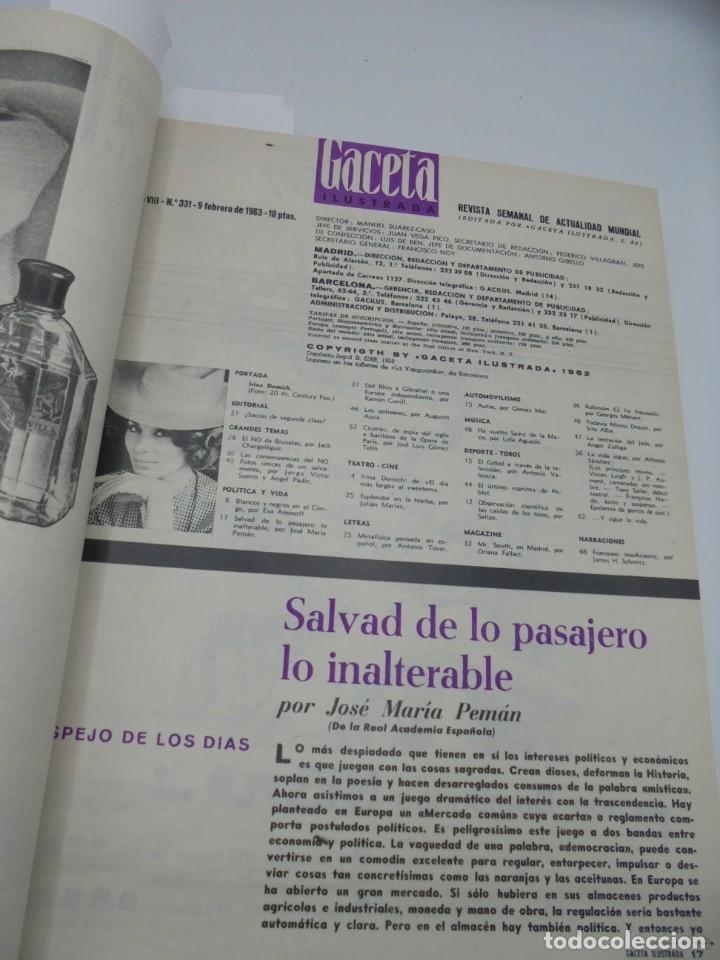 Coleccionismo de Revista Gaceta Ilustrada: GACETA ILUSTRADA. 10 REVISTAS ENCUADERNADAS. DESDE FEBRERO HASTA ABRIL. Nº 330 HASTA EL Nº 339. VER - Foto 5 - 276992063