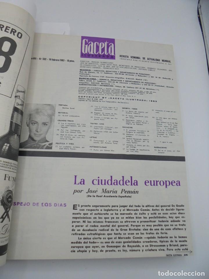 Coleccionismo de Revista Gaceta Ilustrada: GACETA ILUSTRADA. 10 REVISTAS ENCUADERNADAS. DESDE FEBRERO HASTA ABRIL. Nº 330 HASTA EL Nº 339. VER - Foto 7 - 276992063